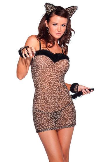 Coquette Леопард С мягкими ушками и хвостиком