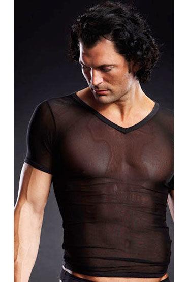 Blue Line футболка, черная С V-образным вырезом комплект me seduce tiffany red s m