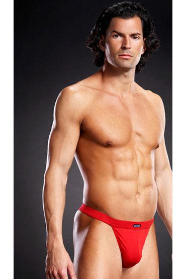 Blue Line мужские танга, красные На широкой эластичной резинке