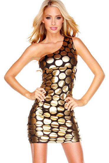 Hustler Gold Fashion С рисунком в крупным горох hustler cover girl платье с кружевной спиной