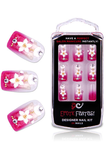 Erotic Fantasy Spring Flower Акриловые типсы с розовым маникюром erotic fantasy black dots типсы для ногтей из акрила