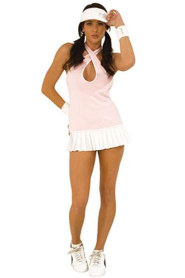 Hustler Теннисистка Коротенькое платье и напульсники hustler fucsia fantasy платье с бретелью через шею