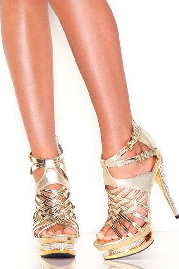 Hustler босоножки, золотые Лаковые, со стразами малые крылья electric lingerie pink fairy tale розовые