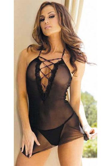 Hustler комплект Платье со шнуровкой и стринги сорочка и стринги eleni xxl 3xl