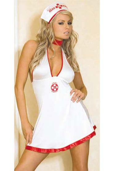 Hustler Медсестра Мини-платье и чепчик ду frivole старшая медсестра ж