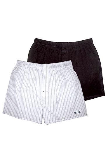 Hustler шорты, черно-белые Две пары: однотонные и в полоску le frivole соблазнительная стюардесса платье чулки перчатки и пилотка