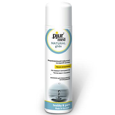 Pjur Med Natural Glide, 100 мл Увлажняющий лубрикант на водной основе презервативы durex realfeel для естественных ощущений 12шт