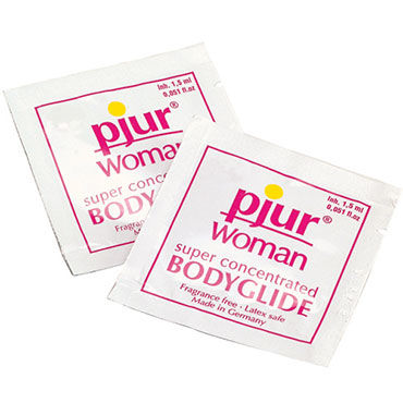 Pjur Woman Body Glide, 2 мл Силиконовый лубрикант для женщин obsessive luiza черные трусики стринги с вышитым узоромм