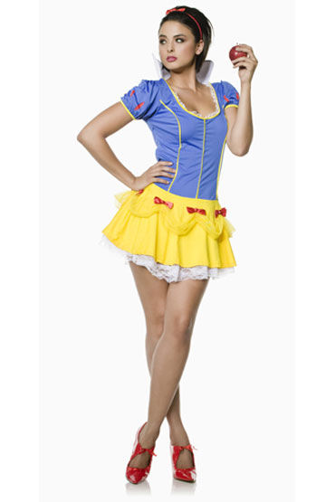 Seven til Midnight Белоснежка Яркое мини-платье с воротником-стоечкой seven til midnight горничная кружевное платье фартук