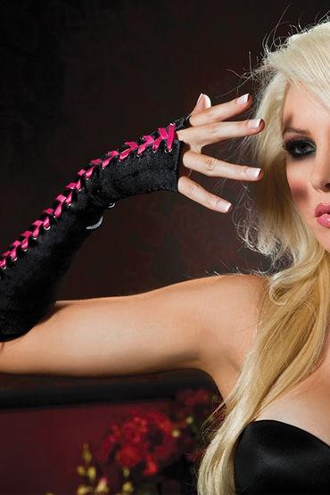 Seven til Midnight перчатки С розовой шнуровкой desire de luxe platinum overture 30мл духи с феромонами унисекс