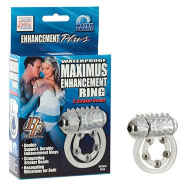California Exotic Maximus Ring 5 Stroke Beads Эрекционное кольцо с виброэлементом california exotic one touch dolphin синее эрекционное кольцо с дельфинчиком