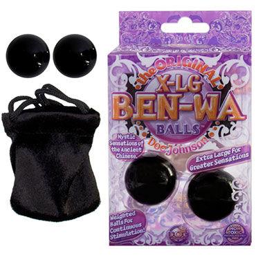 Doc Johnson X-Large Ben Wa, черный Вагинальные шарики для тренировки мышц плетка из натуральной кожи