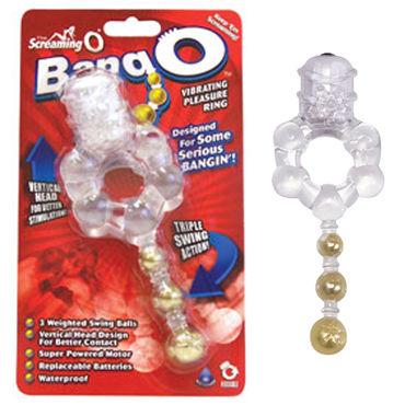 The Screaming Bang O кольцо Кольцо с тремя шариками screaming o man spark виброкольцо со стимулирующими шариками