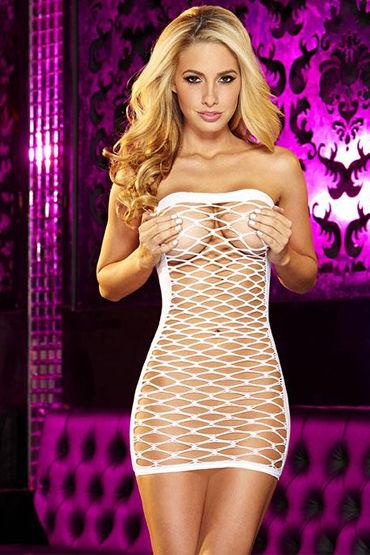 Hustler платье-сетка, белое Без бретелек в подарки и приколы цвет другой