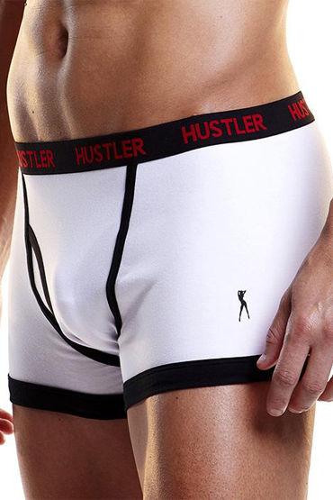 Hustler боксеры, белые С черной окантовкой erotic fantasy scarlet lavish парик с градуированной стрижкой