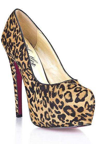 Hustler Leo Desire Туфли на высокой шпильке Из искусственного меха леопарда hustler black diamond туфли на высокой шпильке декорированы черными кристаллами