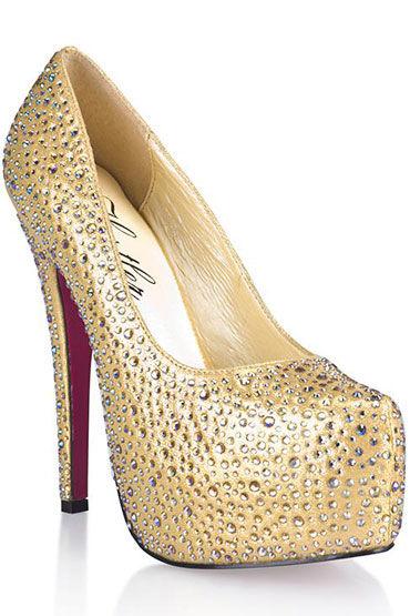 Hustler Golden Diamond Туфли на высокой шпильке Декорированы серебряными кристаллами hustler black salamander туфли на высокой шпильке имитация кожи рептилии
