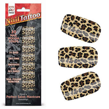 Erotic Fantasy Nail Tattoo, леопард Набор лаковых полосок для ногтей erotic fantasy nail tattoo леопард