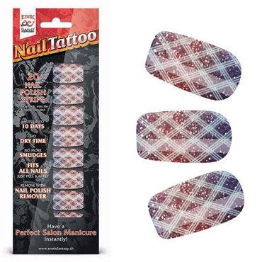Erotic Fantasy Nail Tattoo, блестящий градиент Набор лаковых полосок для ногтей erotic fantasy nail tattoo леопард