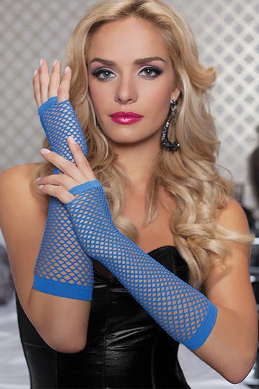 Seven til Midnight перчатки, синие В сеточку д seven til midnight перчатки черные