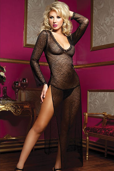 Seven til Midnight комплект Длинное платье с трусиками dolce piccante сорочка черная с кружевным лифом