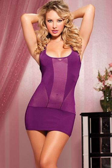 Seven til Midnight мини-платье, фиолетовое Облегающего кроя мини платье
