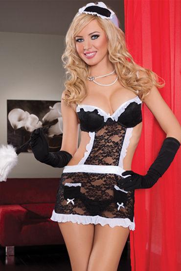 Seven til Midnight Горничная Кружевное платье-фартук r cotelli платье горничной черно белое