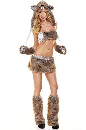 Hustler Бобер Меховой наряд из пяти предметов мужские костюмы для ролевых игр размер l