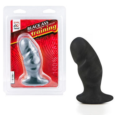 Erotic Fantasy Ass Training Dildo, черный Изогнутый анальный стимулятор faak tpe dildos length 17 2in huge long flexible animal dildo horse penis erotic sex toys for woman masturbation big dong dick