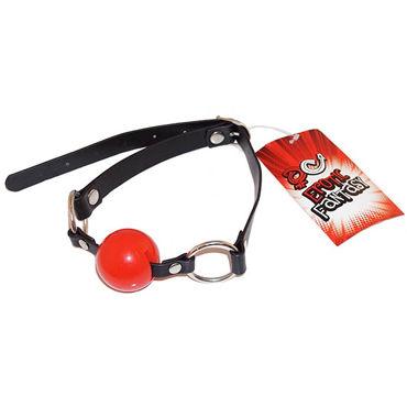 Erotic Fantasy Ballgag, черно-красный Кляп с силиконовым шаром erotic fantasy teadrop m кольцо с металлическим языком