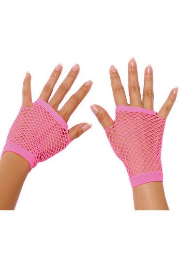 Electric Lingerie митенки, розовые Короткие, в сеточку перчатки castlelady перчатки розовые