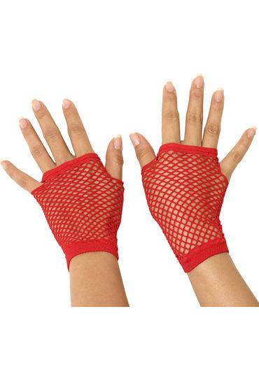 Electric Lingerie митенки, красные Короткие, в сеточку electric lingerie комплект