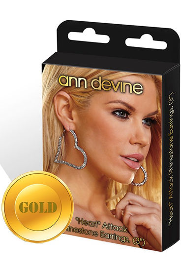 Ann Devine Heart Attack Earrings, золотой