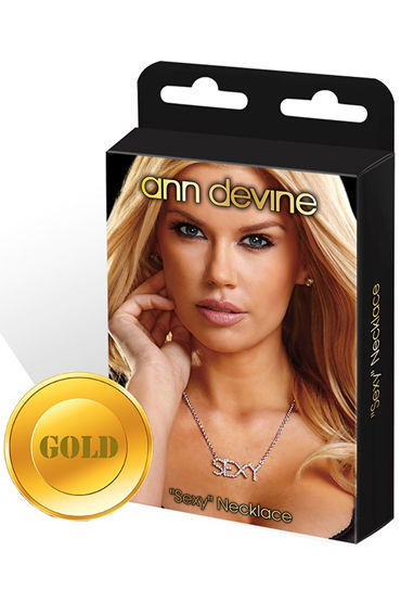 Ann Devine Sexy, золотой Цепочка с кулоном ann devine bitch золотой цепочка с кулоном