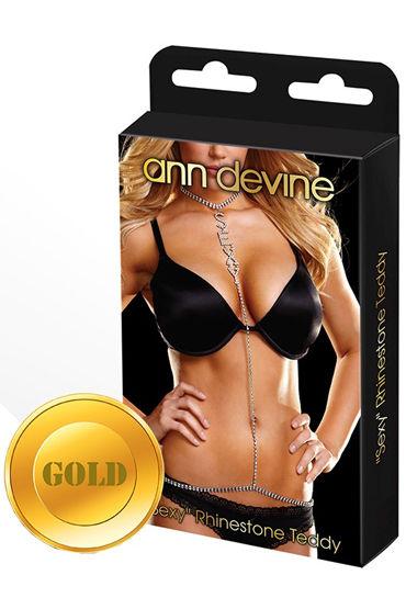 Ann Devine Phinestone Teddy, золотой Украшение на тело комплект с открытой грудью casmir tatia set l xl