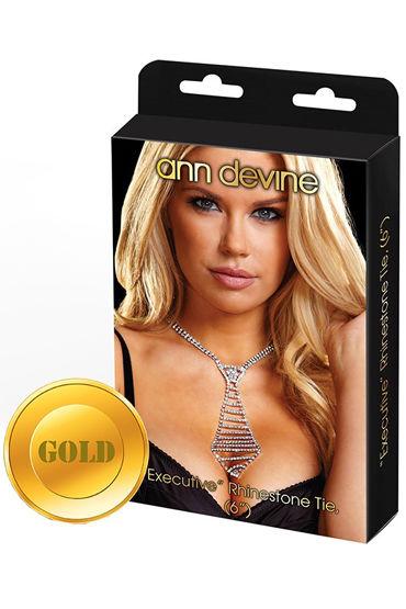 Ann Devine Phinestone Tie, золотой Из сверкающих кристаллов ann devine phinestone studs элегантные гвоздики