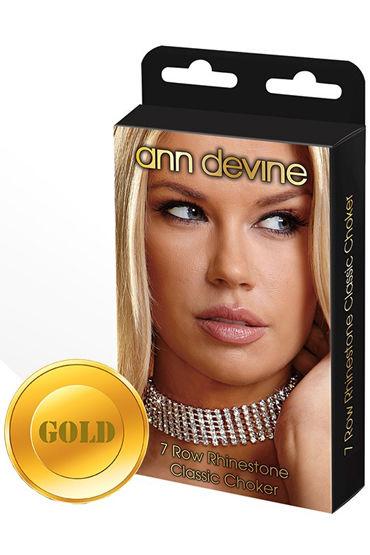 Ann Devine Rhinestone Classic Choker, золотой Широкий ошейник из кристаллов фаллоимитатор the d™ perfect d 7 chocolate на литой присоске