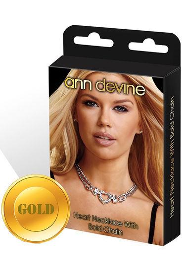 Ann Devine Heart Necklace, золотой Колье с подвеской-сердцем masculan gold luxury edition презервативы с золотистым напылением