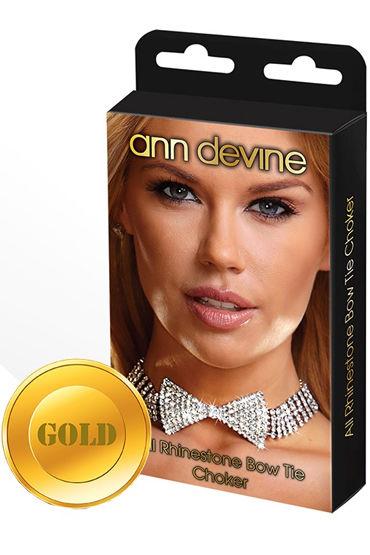 Ann Devine Bow Tie Choker, золотой Ожерелье в форме бабочки силиконовые фаллопротезы материал пвх