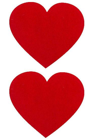 Shots Toys Nipple Sticker Hearts, красные Пэстисы в форме сердечек myworld пэстисы черно красные