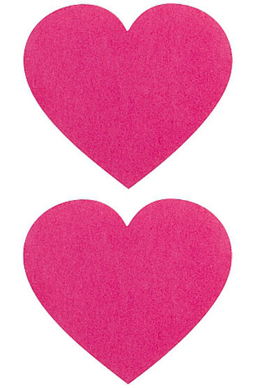Shots Toys Nipple Sticker Hearts, розовые Пэстисы в форме сердечек