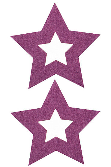 Shots Toys Nipple Sticker Stars, фиолетовые Пэстисы в форме звездочек ms133 1 100pcs silver cute stars metal sticker nail art metal sticker nail art decoration non adhesive sticker