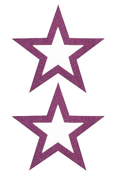 Shots Toys Nipple Sticker Open Stars, фиолетовый Пэстисы в форме звездочек, с отверстиями для сосков shots toys nipple sticker stars фиолетовые пэстисы в форме звездочек