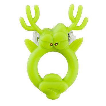 Shots Toys Rockin Reindeer Эрекционное виброкольцо в виде оленя baile pretty love byron розовый вибромассажер с перекатывающимися шариками