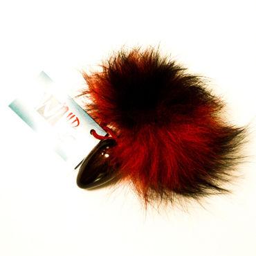 Wild Lust Анальная пробка 4см, красно-черный С заячьим хвостом wild lust анальная пробка 4см черная с голубым заячьим хвостом