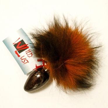 Wild Lust Анальная пробка 3см, оранжево-черный С заячьим хвостом wild lust анальная пробка 4см черная с голубым заячьим хвостом