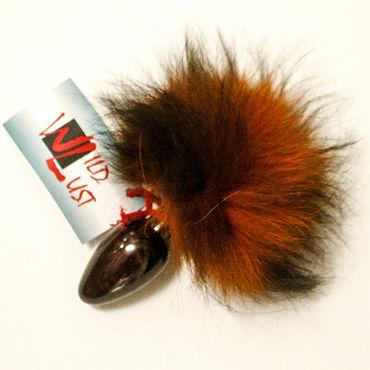 Wild Lust Анальная пробка 4см, оранжево-черный С заячьим хвостом wild lust анальная пробка 40 мм черная с тонированным лисьим хвостом