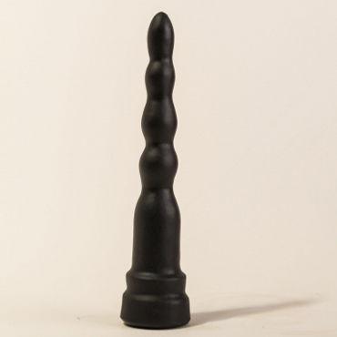 Bioclon Анальная елочка, черная С ограничительным основанием анальная елочка для drilldo и бит адаптер