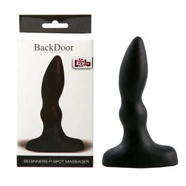 Lola Toys Back Door Beginners P-Spot Massager, черный Стимулятор простаты для начинающих lola toys back door medium petals anal extender черный