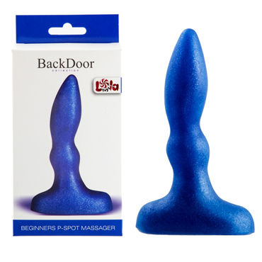 Lola Toys Back Door Beginners P-Spot Massager, синий Стимулятор простаты для начинающих lola toys back door medium petals anal extender черный